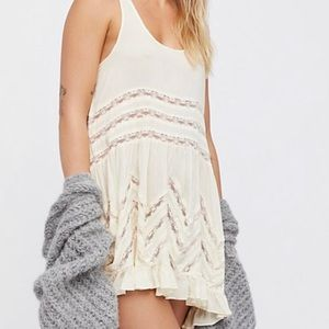 Free People Voile & Lace Polka Dot Trapeze Slip